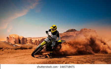 Motocross riders in action. Motocross sport.