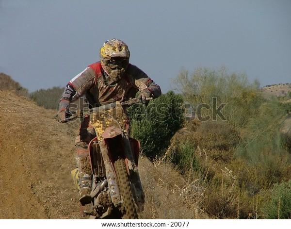 motocross riding