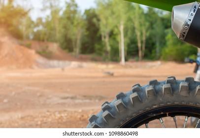 Motocross Tires tree racetrack background