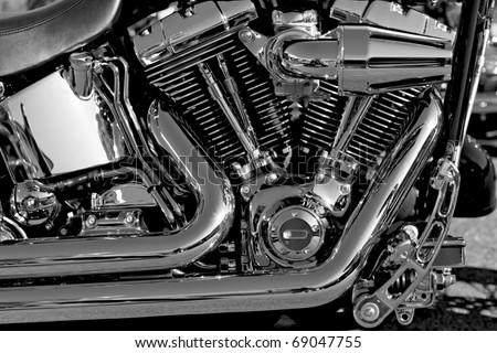 Motor bike detail Engine