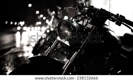 Motor bike headlightMotorbike detailShiny