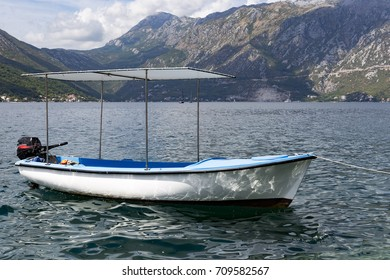 a motor boat in the Bay