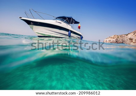 Motor boat View from