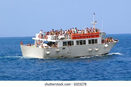 Motor Boat w/ Tourists
