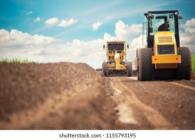 Motor Grader Civil Construction improvement base road work