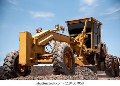 Motor Grader Civil Construction improvement base road work