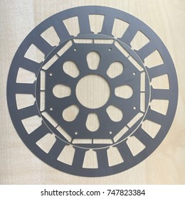 Motor lamination stator and rotor cross section