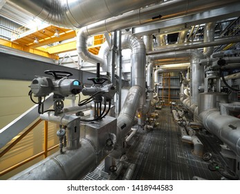 Motor operate valve for On-Off type which apply industrial zone and popular to install with tank, pipe, pump and pond in Combined-Cycle Co-Generation Power Plant.