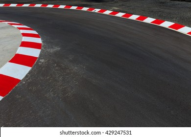 Motor racing circuit Red and White