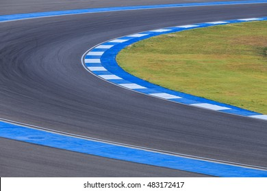 Motor Racing Track Corner Apex