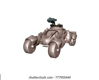 Motor vehicle 3D rendering