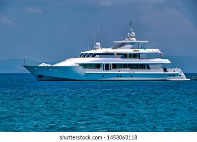 Motor yacht in the sea