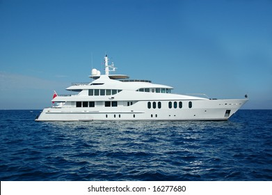 motor yacht in south of France