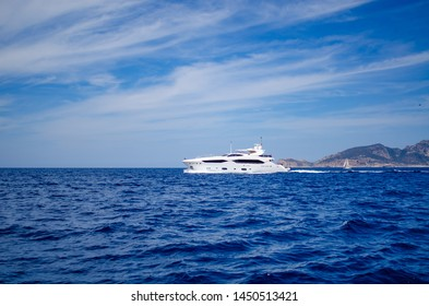 motor yacht in waters near mallorca