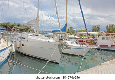 Motor yachts on the dock