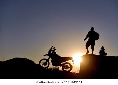 motorbike adventure, long road experience and break time