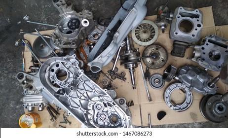 Motorbike Engine Open all parts