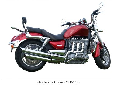 Motorbike isolated with clipping path