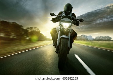 Motorbike on a country road
