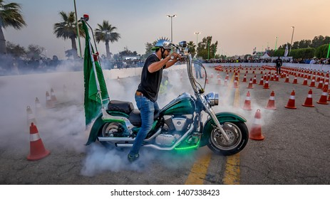 Motorbike show in Sharqiah Season-Saudi Arabia. Photo taken at Dammam Saudi Arabia on March 15th 2019