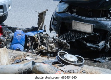 Motorcycle and car accident