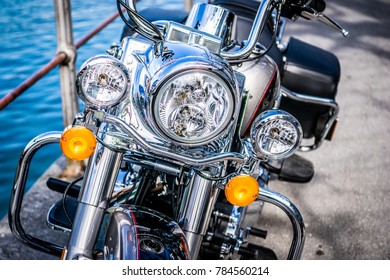 Motorcycle with chrome