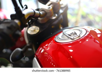 Motorcycle close-up fuel tank background