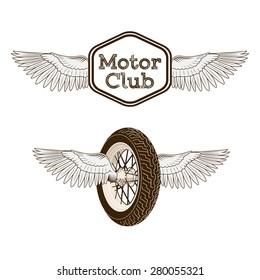 Motorcycle club logo emblem rasterized copy