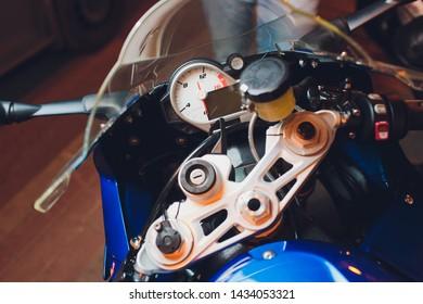 Speed Meter Motorcycle Images, Stock Photos & Vectors