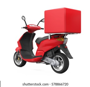 Motorcycle Delivery Box. 3D rendering