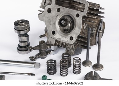 Motorcycle Engine Block cylinder and it's parts