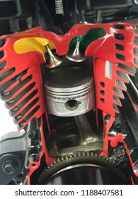 Motorcycle engine cut model