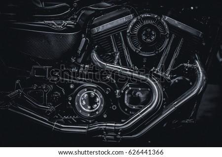 Motorcycle engine engine exhaust