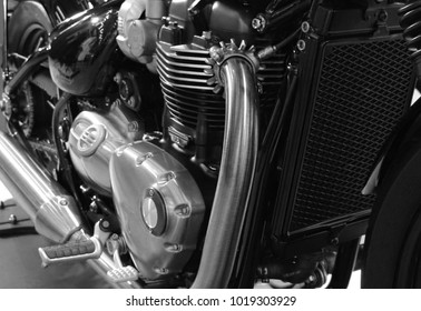 Motorcycle engine Great power Background texture