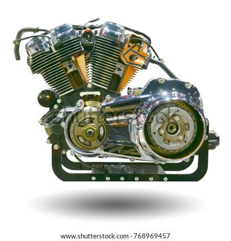 motorcycle background has  Motorcycle Engine Two Cylinder Big Bike Stock Photo (Edit Now ...