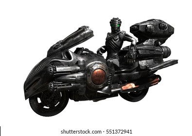motorcycle futuristic 3d rendering supper bike biker