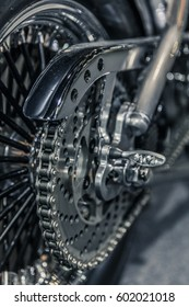 a motorcycle gears,  detail