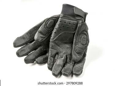 Motorcycle Gloves isolated on white background