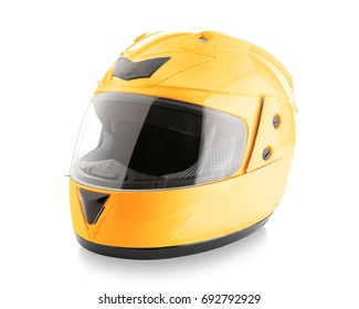 Motorcycle helmet over isolate on white background with clipping path