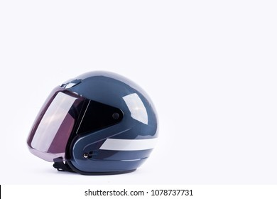motorcycle helmet is safty equipment on white background helmet safety object isolated