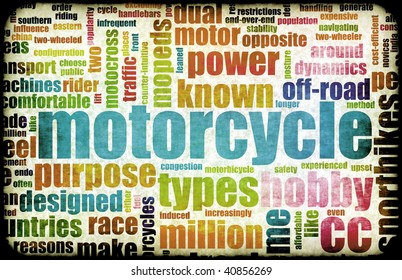 Motorcycle Hobby as a Fun Abstract Background