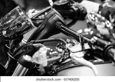 Motorcycle macro close up details