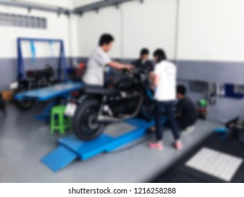 Motorbike garage phitsanulok thailand october 27 stock photo edit