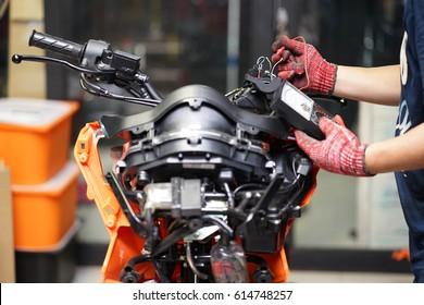 Motorcycle Mechanic Images, Stock Photos & Vectors | Shutterstock