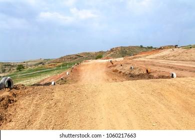 Motorcycle race track motocross -  Trail for motocross