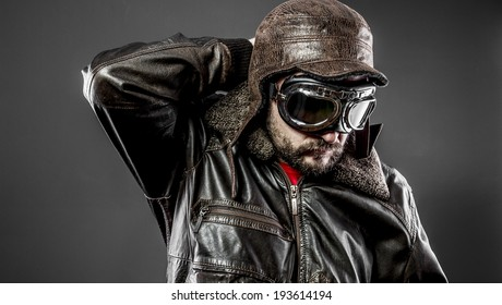 motorcycle racer with old style