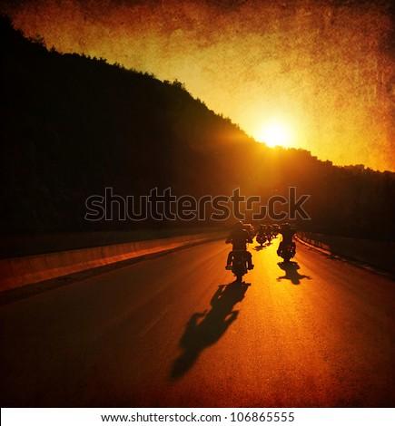 Motorcycle ride people driving
