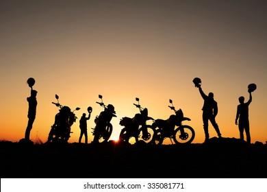motorcycle rider team