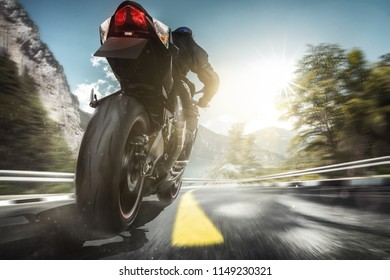 Motorcycle rides in the mountains