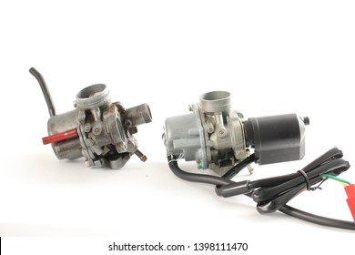 Motorcycle spare parts carburetor gasoline engine.